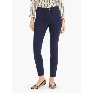 J.CREW Navy Blue Petite Cargo Skinny Fit Pants